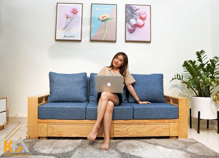 Mẫu sofa cho nội thất phòng khách chung cư ăn gian diện tích
